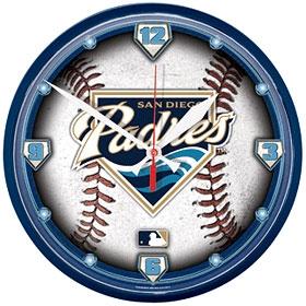 San Diego Padres Round Clock