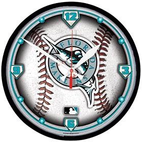 Florida Marlins Round Clock