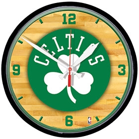 Boston Celtics Round Clock