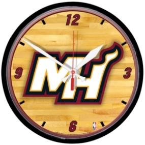 Miami Heat Round Clock