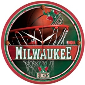 Milwaukee Bucks Round Clock
