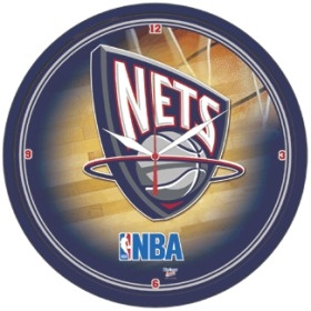 New Jersey Nets Round Clock
