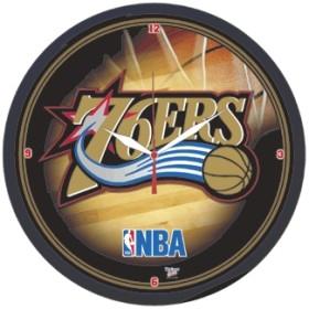Philadelphia 76ers Round Clock