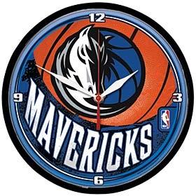 Dallas Mavericks Round Clock
