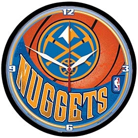Denver Nuggets Round Clock