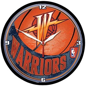 Golden State Warriors Round Clock