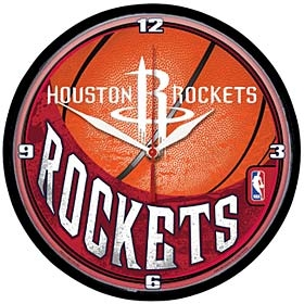 Houston Rockets Round Clock