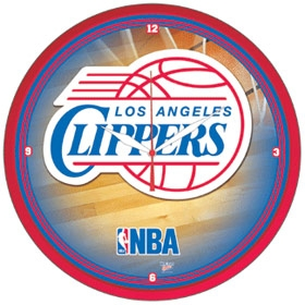 Los Angeles Clippers Round Clock