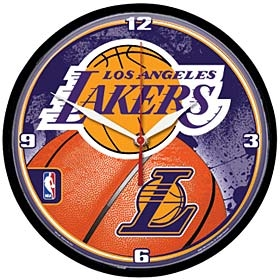 Los Angeles Lakers Round Clock