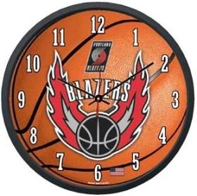 Portland Trailblazers Round Clock