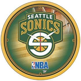 Seattle Sonics Round Clock