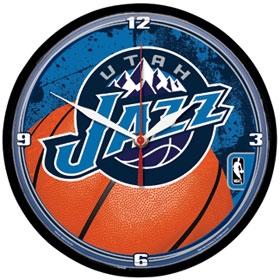 Utah Jazz Round Clock
