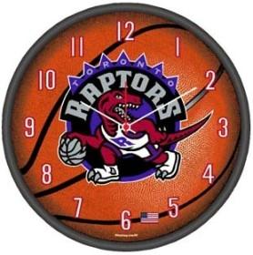 Toronto Raptors Round Clock