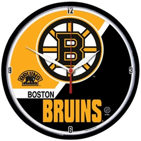 Boston Bruins Round Clock