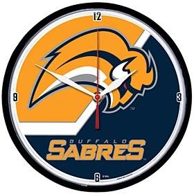 Buffalo Sabres Round Clock