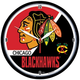 Chicago Blackhawks Round Clock