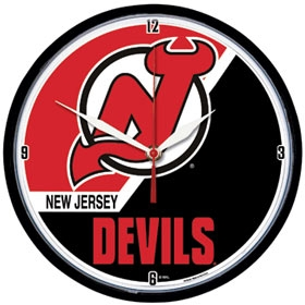 New Jersey Devils Round Clock