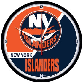 New York Islanders Round Clock