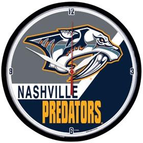 Nashville Predators Round Clock