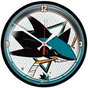 San Jose Sharks Round Clock