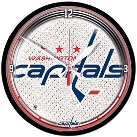 Washington Capitals Round Clock