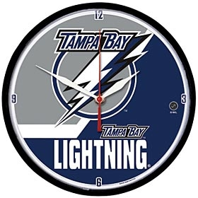 Tampa Bay Lightning Round Clock