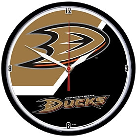 Anaheim Ducks Round Clock