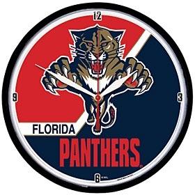 Florida Panthers Round Clock