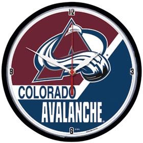 Colorado Avalanche Round Clock