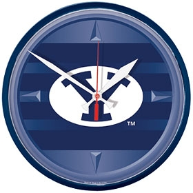 Brigham Young Cougars Round Clock