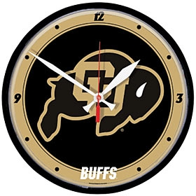 Colorado Buffaloes Round Clock