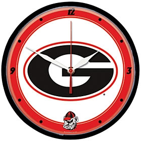 Georgia Bulldogs Round Clock