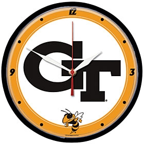 Georgia Tech Yellow Jackets Round Clock