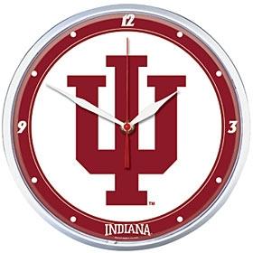 Indiana Hoosiers Round Clock