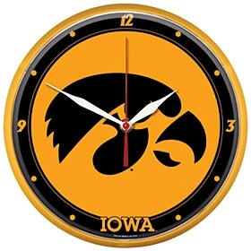 Iowa Hawkeyes Round Clock