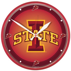 Iowa State Cyclones Round Clock