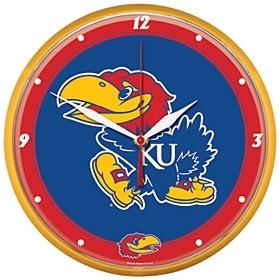 Kansas Jayhawks Round Clock