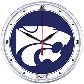 Kansas State Wildcats Round Clock