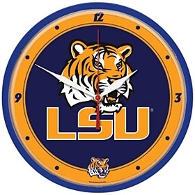 LSU Tigers Round Clock