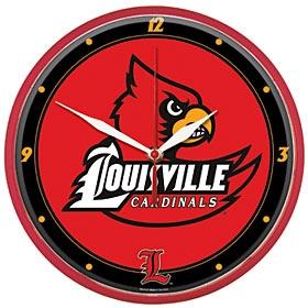 Louisville Cardinals Round Clock
