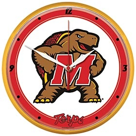 Maryland Terrapins Round Clock