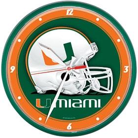 Miami Hurricanes Round Clock