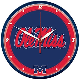 Mississippi Rebels Round Clock