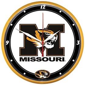 Missouri Tigers Round Clock