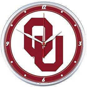 Oklahoma Sooners Round Clock