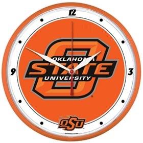 Oklahoma State Cowboys Round Clock