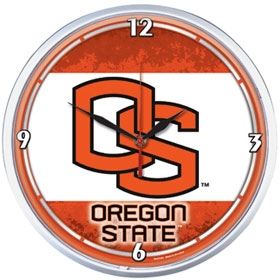 Oregon State Beavers Round Clock