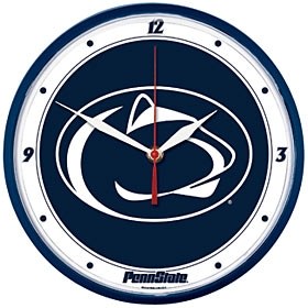 Penn State Nittany Lions Round Clock