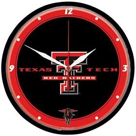 Texas Tech Red Raiders Round Clock