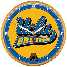 UCLA Bruins Round Clock